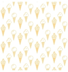 Orange ice cream seamless pattern Summer vector image