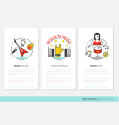 Rocknroll business brochure template vector