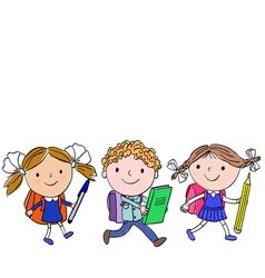 school kids 4 6 vector image