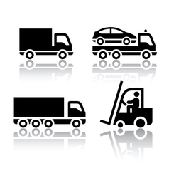set of transport icons - truck vector image vector image