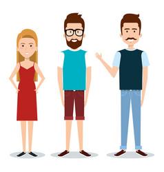 standing people design vector image