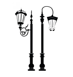 Street lights and outdoor lamps vector image