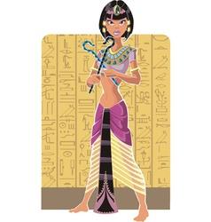 Tsarina of egypt on light background vector