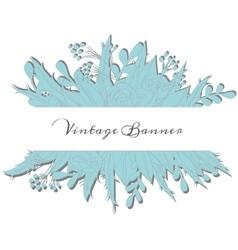 Vintage floral banner vector