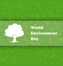 World environment day ecology background vector