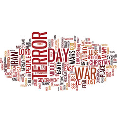 Terror the lost war text background word cloud vector