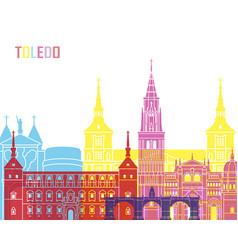 Toledo v2 skyline pop vector