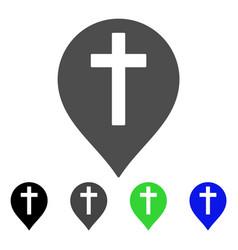 christian cross marker flat icon vector image