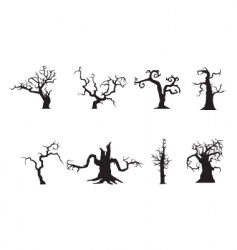 Scary trees vector