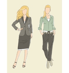 Fashion business women vector