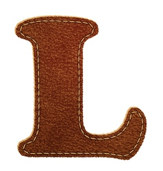 Leather textured letter l vector