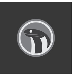 Cobra head in a minimalist flat silje round vector
