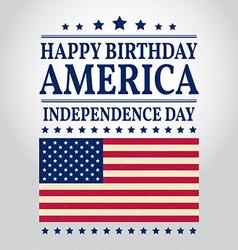Happy birthday america vector