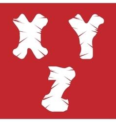 XYZ grunge letters vector image