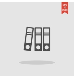 Folder icon flat design style eps 10 vector