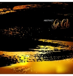 Abstract grunge black and gold pattern template vector