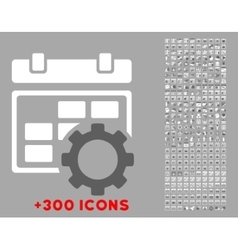 Appointment settings icon vector