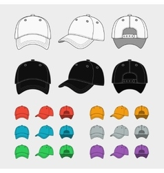 Baseball cap template vector