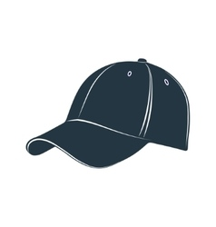 baseball cap visor headgear hat accessory vector image