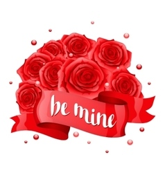 Be mine happy valentine day greeting card with vector