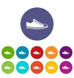 Canvas sneaker set icons vector image vector image