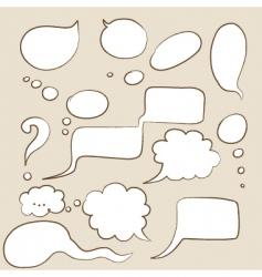 cartoon speech bubbles vector image vector image