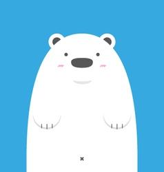 cute big white polar bear vector image