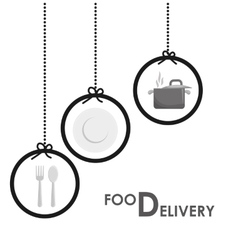 delivery and menu design vector image