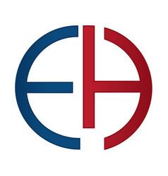 eh alphabet company letter logo design vector image