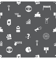 Election simple icons seamless gray pattern eps10 vector