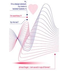 Elegant flowing parallel lines background royal vector