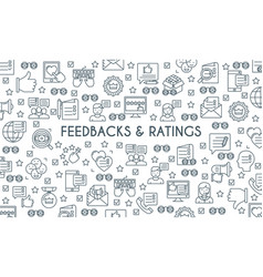 feedbacks and ratings banner vector image