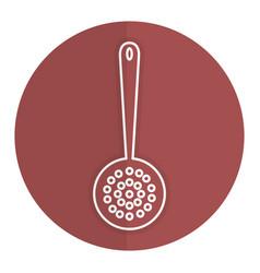 Fry spoon cutlery icon vector