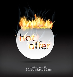 hot offer vector image vector image