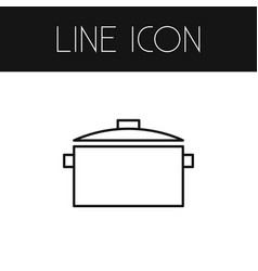 Isolated saucepan outline casserole vector