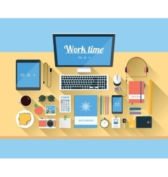 modern workspace vector image vector image