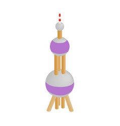 Oriental Pearl Tower icon isometric 3d style vector image vector image