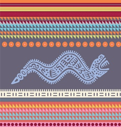 ornamental african style motive 02 vector image