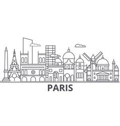 paris architecture line skyline vector image