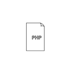 Php format document line icon outline sign linear vector