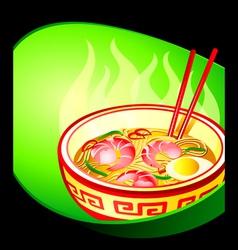 Ramen noodle vector image