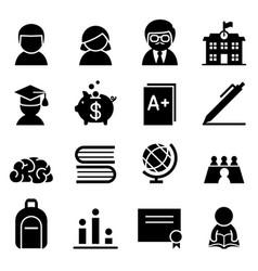 Scholarship icon vector