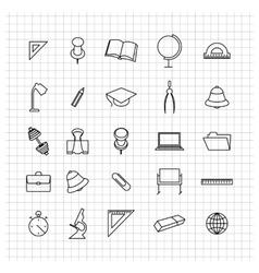 School set of icons vector image vector image
