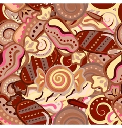 Seamless kawaii child pattern with candy cute vector
