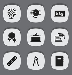 set of 9 editable science icons includes symbols vector image