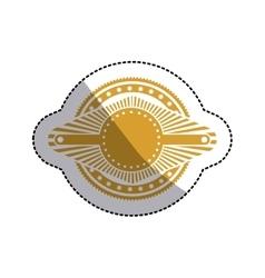 Sticker ochre stamp abstract art deco emblem vector