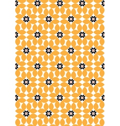 Sunflowers - abstract seamless pattern vector