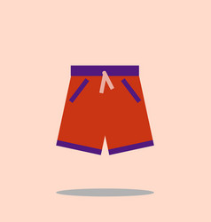 Swim short icon swimming trunks flat design vector