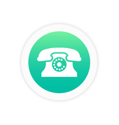 telephone icon sign vector image