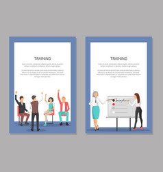training and meeting at conference leader woman vector image vector image